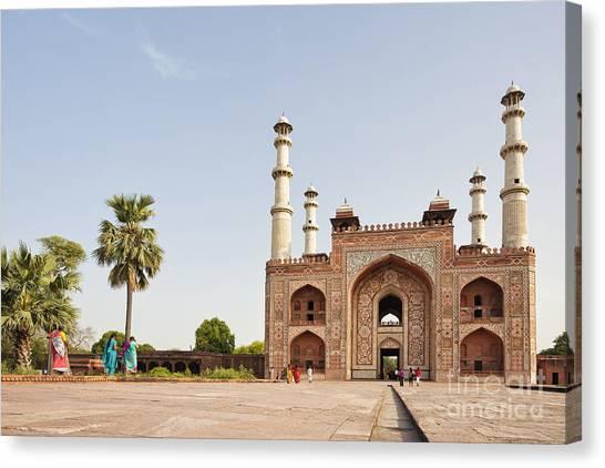 Akbar's Tomb In  India Canvas Print