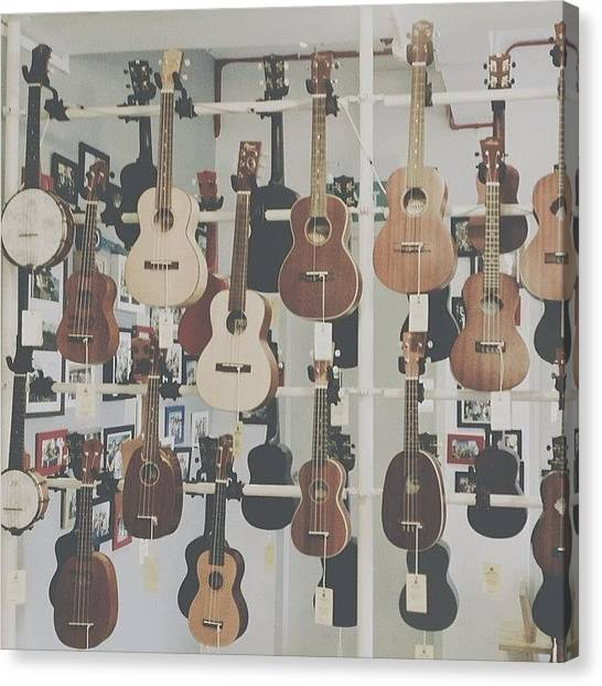 Ukuleles Canvas Print - Aklili Had A Hard Time Choosing Her by Aklili Zack