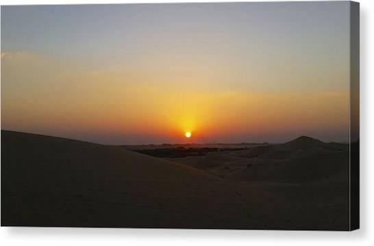 Al Ain Desert 15 Canvas Print