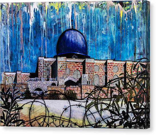Al-asqa Mosque Palestine Canvas Print by Salwa  Najm