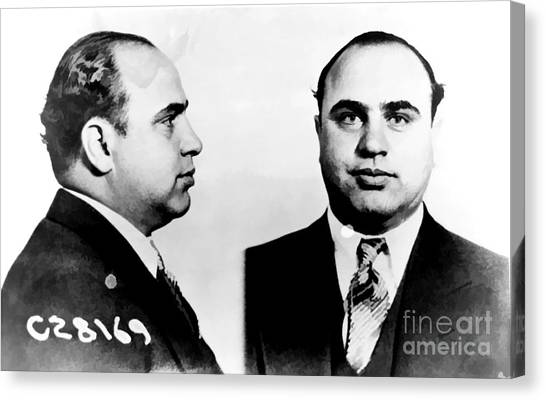 Taxes Canvas Print - Al Capone Mug Shot by Edward Fielding
