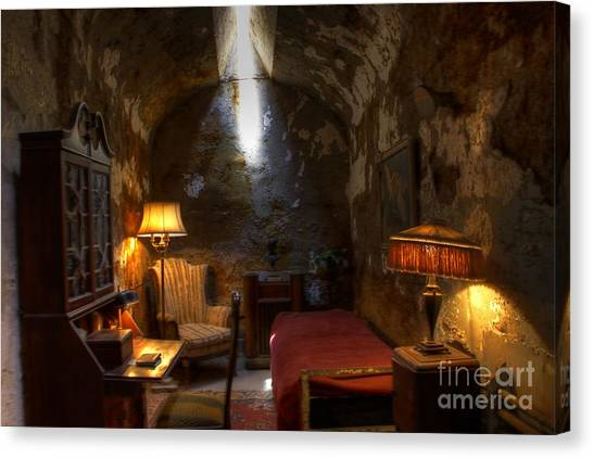 Philidelphia Canvas Print - Al Capone's Cell by David Simons
