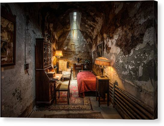Scarface Canvas Print - Al Capone's Cell - Historical Ruins At Eastern State Penitentiary - Gary Heller by Gary Heller