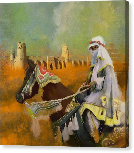 Arabian Desert Canvas Print - Al Jahili Fort - C by Corporate Art Task Force