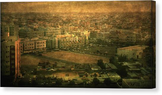 Al-khobar On Texture Canvas Print