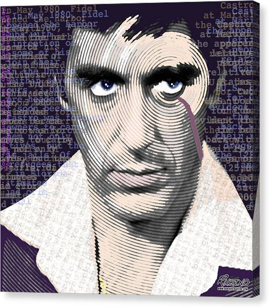 Scarface Canvas Print - Al Pacino Again by Tony Rubino