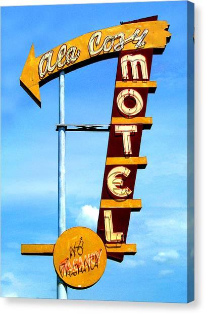 Ala Cozy Motel Canvas Print