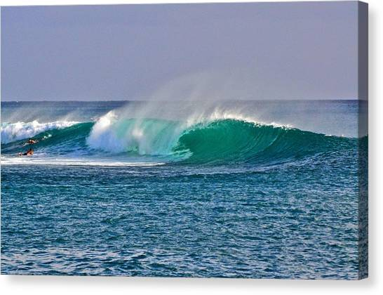 Bodyboard Canvas Print - Ala Moana Bowls Barrel by Joshua Marumoto