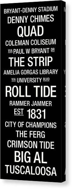 The University Of Alabama Canvas Print - Alabama College Town Wall Art by Replay Photos