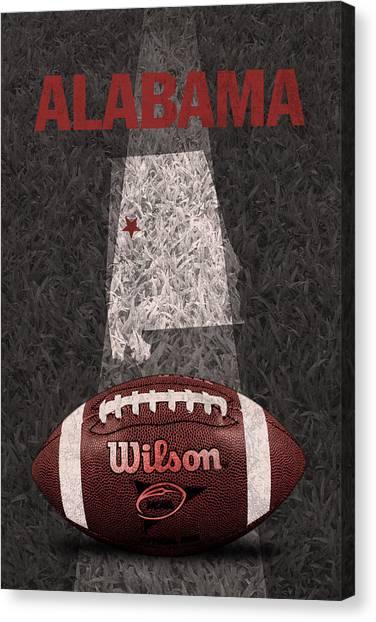 Alabama Canvas Print - Alabama Football Map Poster by Design Turnpike
