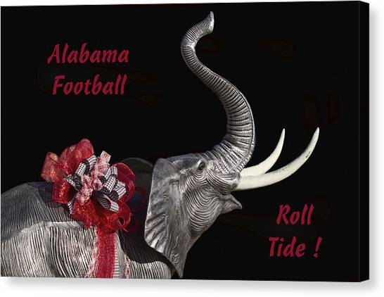 Alabama Football Roll Tide Canvas Print