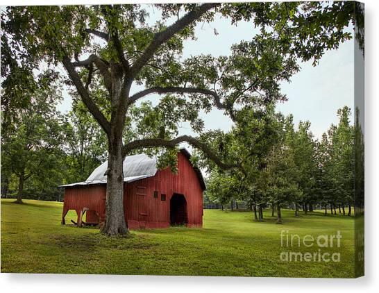 Alabama Red Barn  Canvas Print