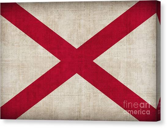 Alabama Canvas Print - Alabama State Flag by Pixel Chimp