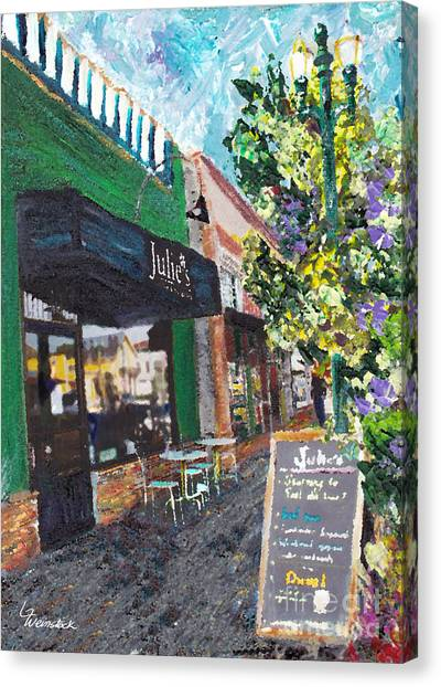 Alameda Julie's Coffee N Tea Garden Canvas Print