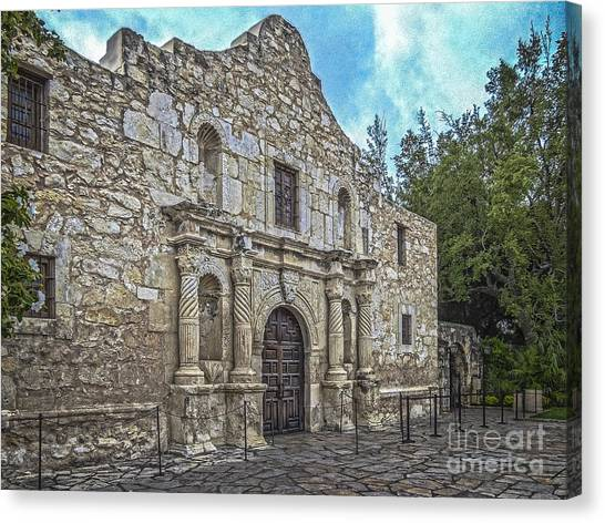 Alamo Hdr Canvas Print