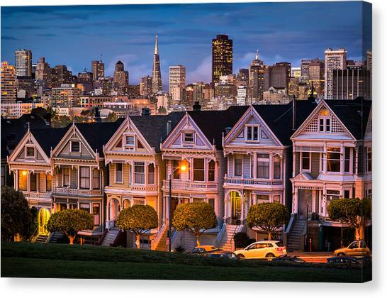 Alamo Square - Painted Ladies Canvas Print