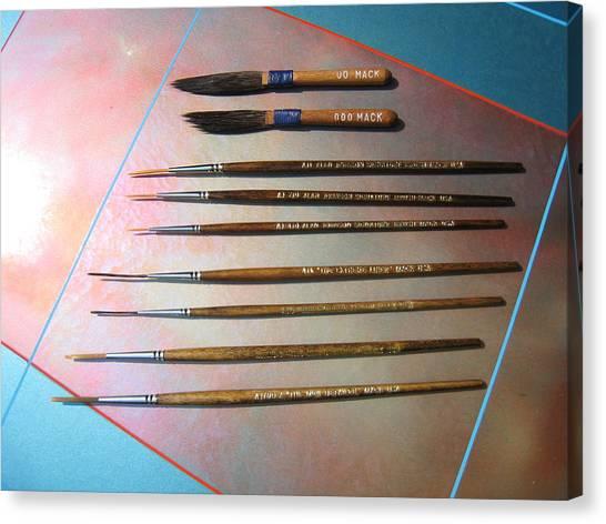 Alan Johnson Signature Brushes  Canvas Print