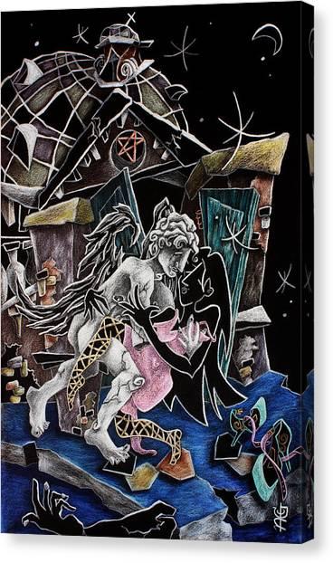 Alas De Tango - Musica Leon Gieco - Contemporary Art Venice Canvas Print by Arte Venezia