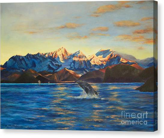 Alaska Dawn Canvas Print by Jeanette French