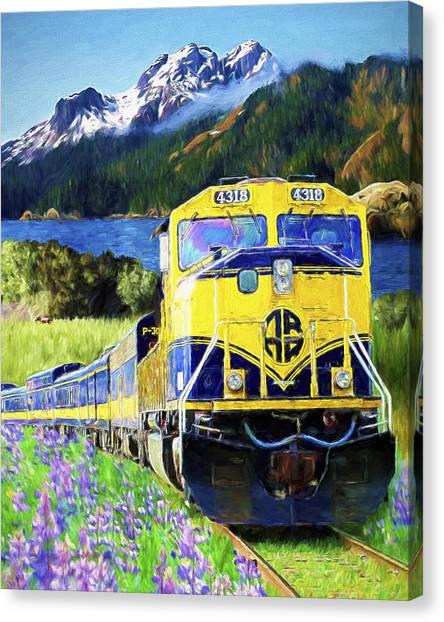Alaska Railroad Canvas Print