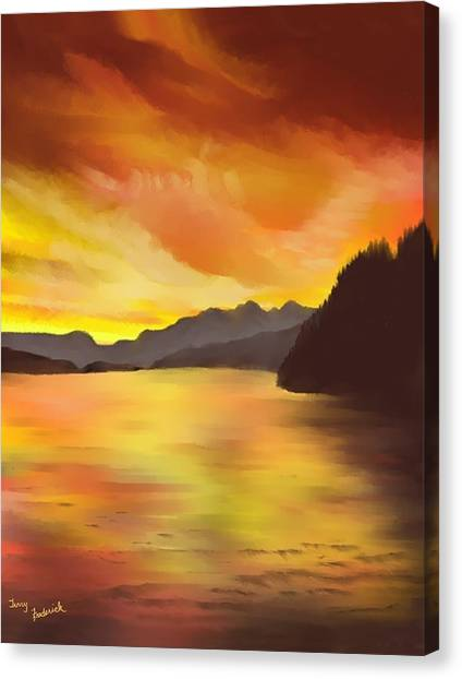 Alaska Sunset Canvas Print