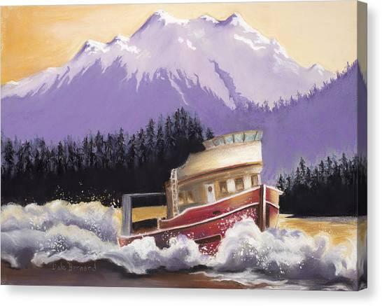 Alaskan Boat Adventure Canvas Print