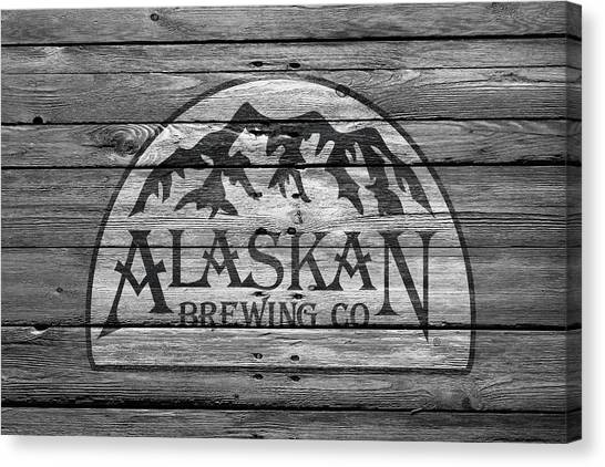 Beer Can Canvas Print - Alaskan Brewing by Joe Hamilton