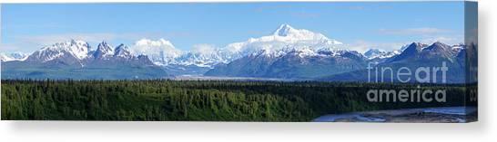 Alaskan Denali Mountain Range Canvas Print