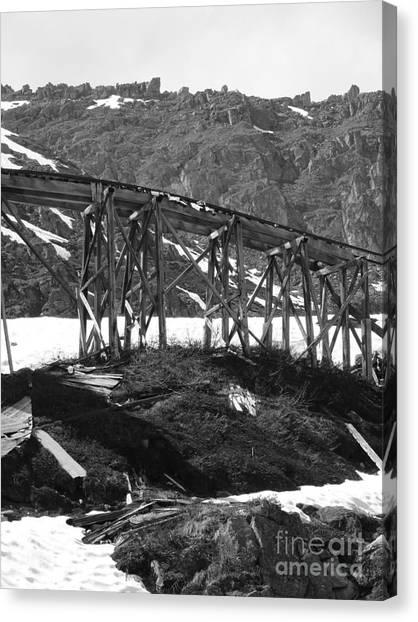 Alaskan Mine Track Canvas Print