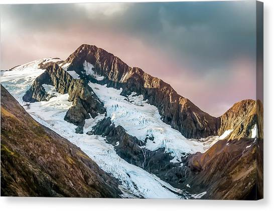Alaskan Mountain Glacier Canvas Print