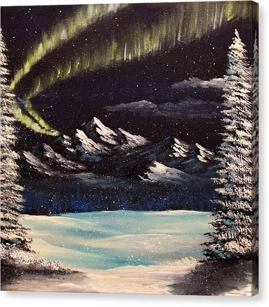 Aurora Borealis Canvas Print - Alaskan Nights by Moshe Guilaran