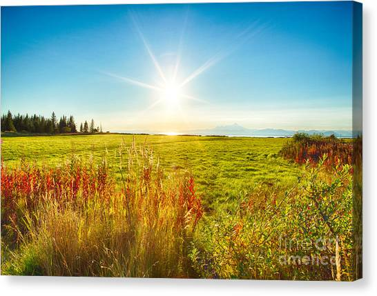 Alaskan Sunburst Canvas Print by Paul Karanik