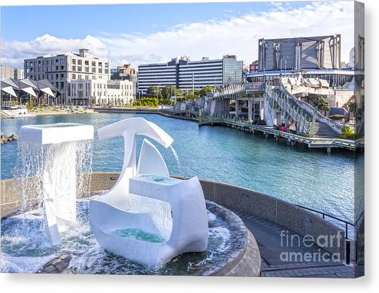 Albatross Canvas Print - Albatross Fountain Wellington New Zealand by Colin and Linda McKie