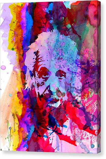 Scientific Canvas Print - Albert Einstein by Naxart Studio