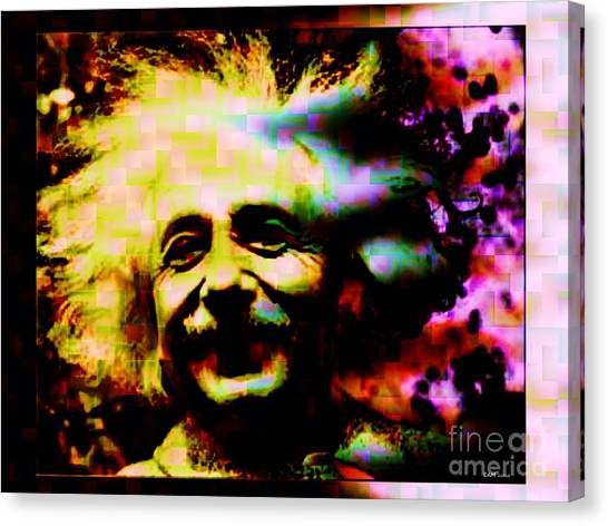 Albert Einstein - Why Is It That Nobody Understands Me - Yet Everybody Likes Me Canvas Print