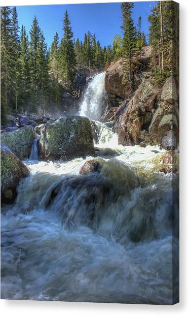 Alberta Falls Canvas Print by Perspective Imagery