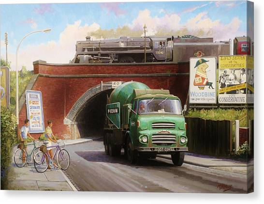 Albion Mixer. Canvas Print