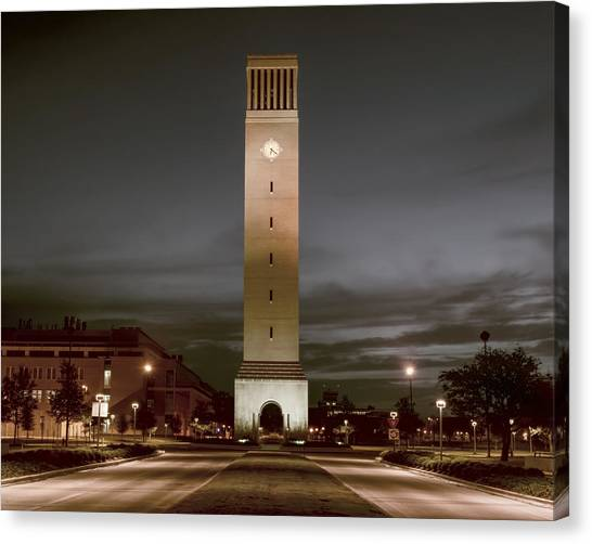 Texas A Canvas Print - Albritton Bell Tower by Joan Carroll