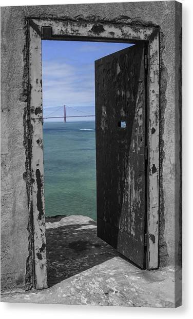 Alcatraz -the Rock Canvas Print