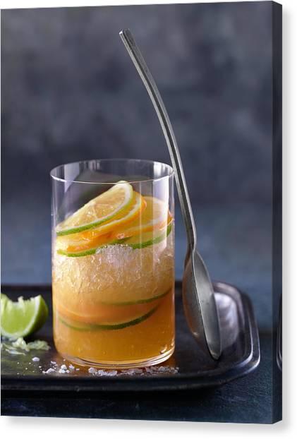 Alcohol Cocktails Canvas Print