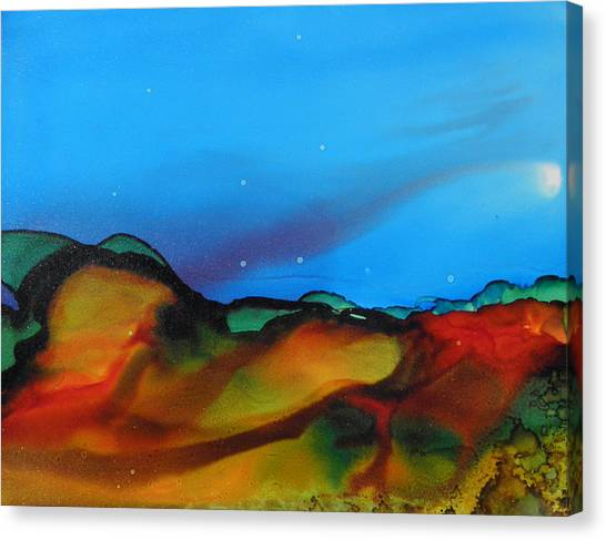 Alcohol Ink Landscape # 134 Canvas Print