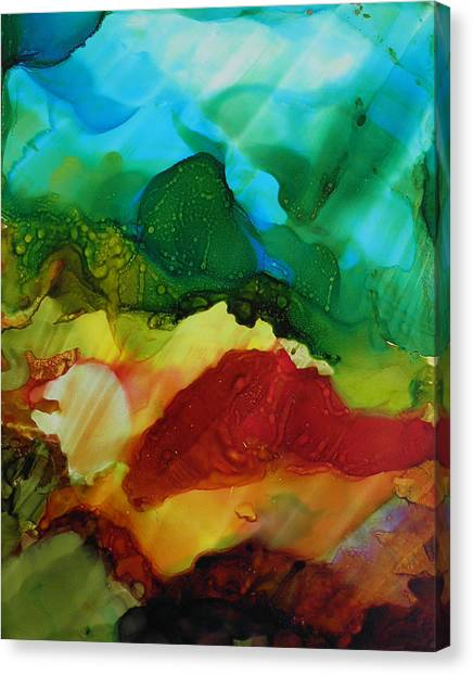 Alcohol Ink Landscape # 157 Canvas Print