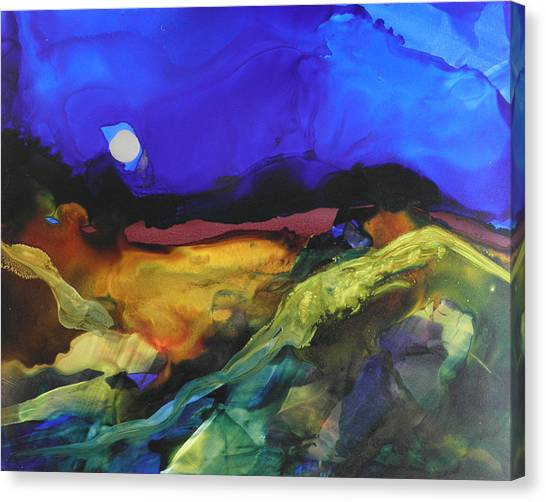 Alcohol Ink Landscape # 164 Canvas Print
