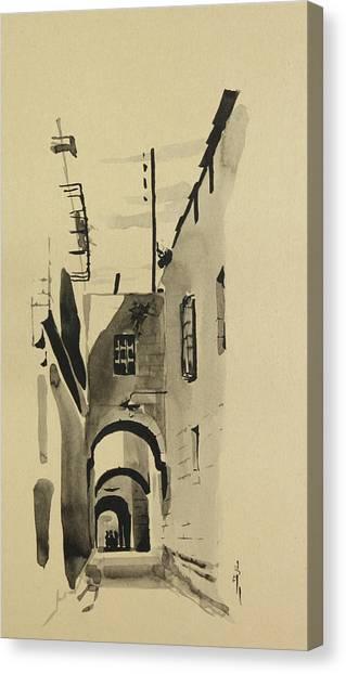 Aleppo Old City Alleyway 1 Canvas Print