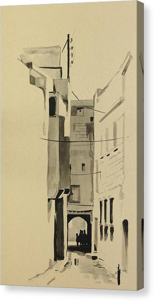 Aleppo Old City Alleyway 2 Canvas Print