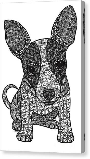 Alert - Chihuahua Canvas Print