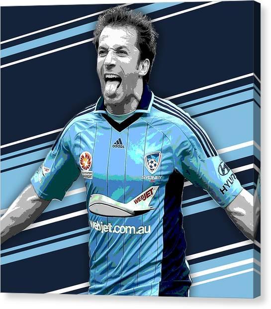 Soccer Leagues Canvas Print - Alessandro Del Piero Sydney Fc Print by Pro Prints