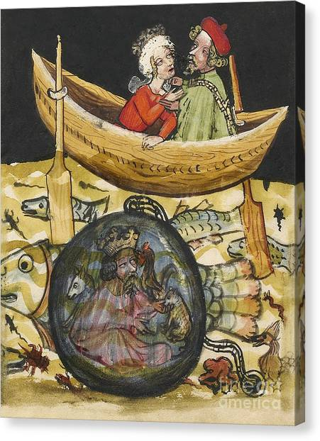 Diving Bell Canvas Print - Alexander The Great In Diving Bell by Getty Research Institute