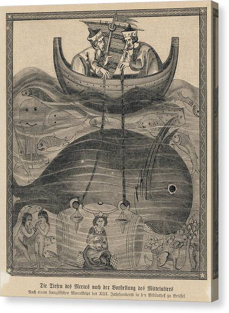 Diving Bell Canvas Print - Alexander The Great, King Of  Greece by Mary Evans Picture Library
