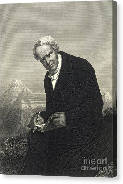 Cotopaxi Canvas Print - Alexander Von Humboldt, German Naturalist by British Library